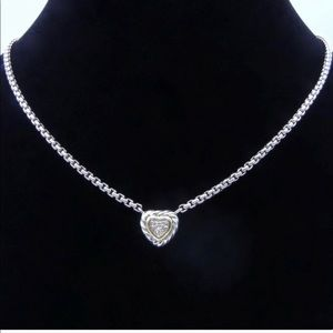 David Yurman diamond heart necklace